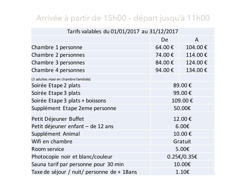 Tarifs hotel restaurant bois de la marche site - Piscine pepiniere poitiers tarifs ...